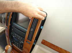 Begin By Popping Loose The Radio Trim Panel This Is Not Held In With Any S Just Friction Clips Which Are Dislodged A Flat Blade